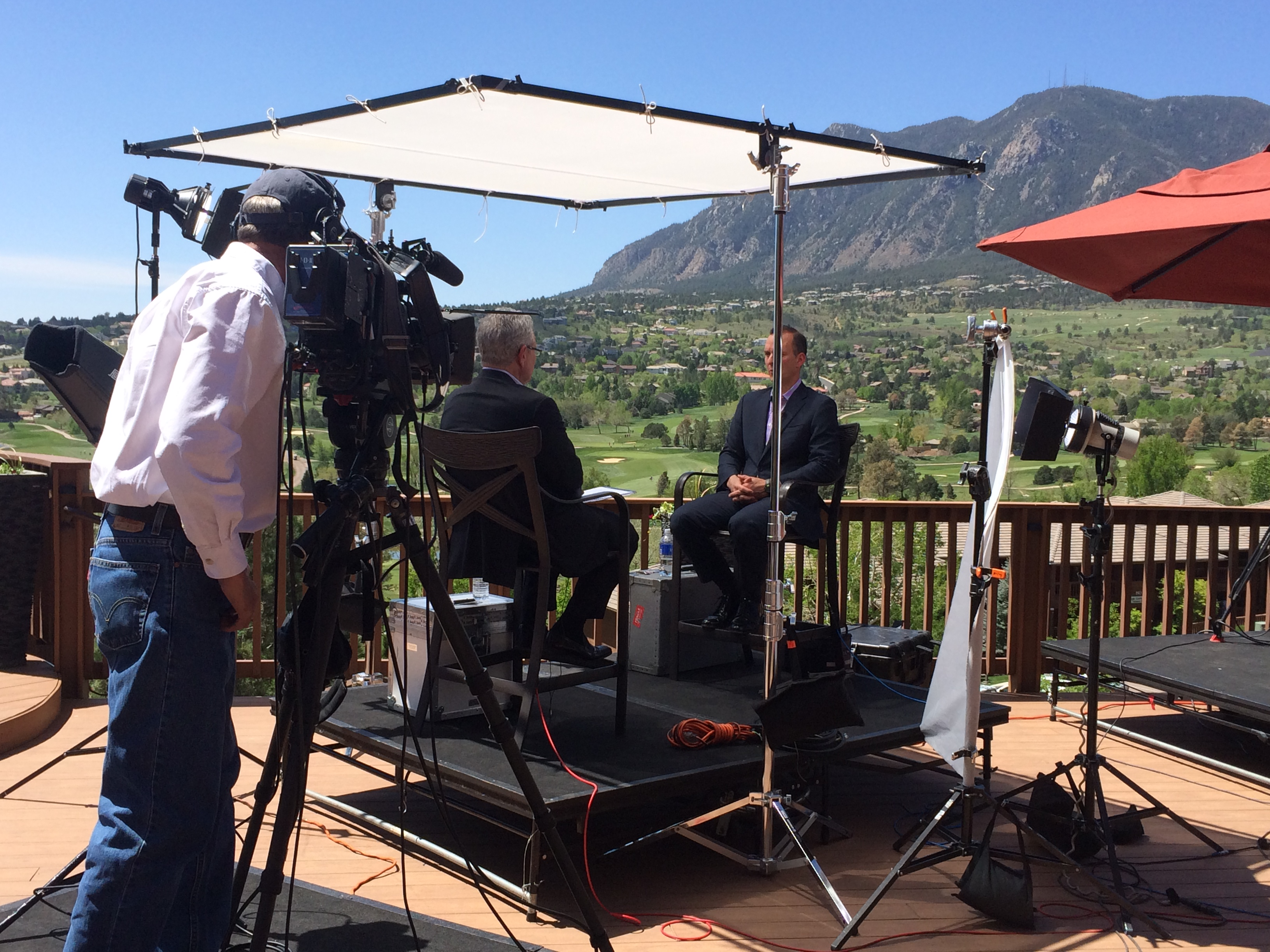 Colorado 4k productions lighting package interview set up for 60 minutes sports workwithnaturefo